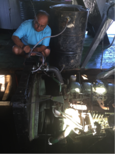 New motor with radiator and barrel (Pastor David Flores)